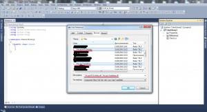 Рис 3 - Окно добавления ссылок в проект