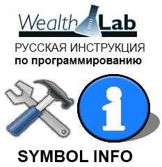 Работа с Symbol Info в программе WealthLab