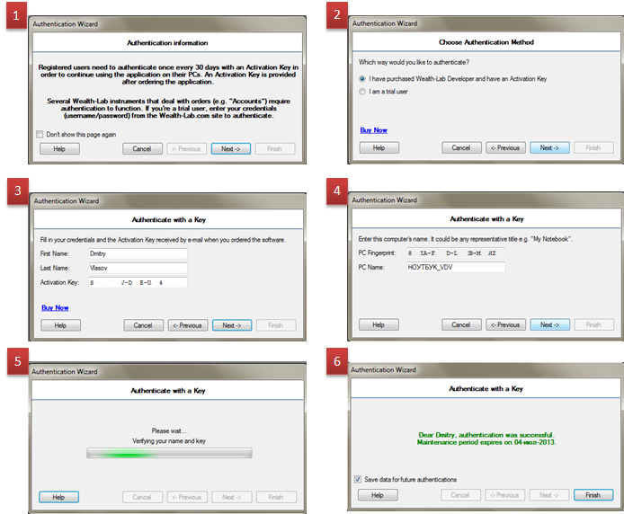 Процесс аутентификации WLD